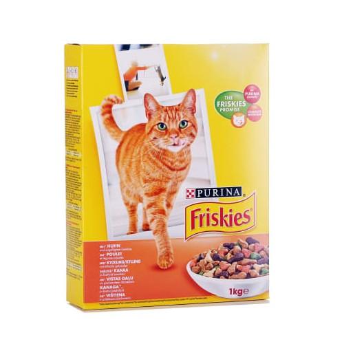 Ėdalas katėms sausas Friskies vištiena su daržovėmis, 1 kg