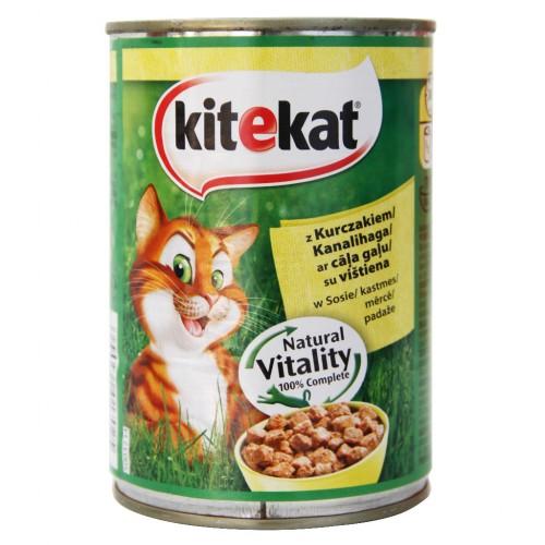 Konserv.kačių ėdalas Kitekat su višt/jogurt.400g