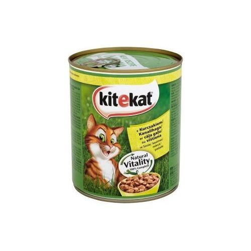 Ėdalas katėms konserv. Kitekat su vištiena 800g