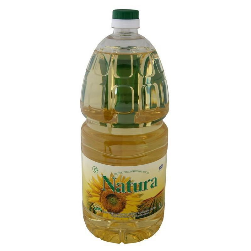 Aliejus saulėgrąžų Natura 3l