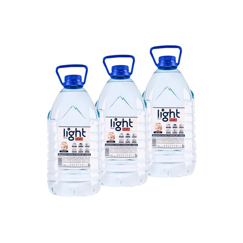 Mineralinis vanduo Rasa light minerals natūralus negaz. 5 L