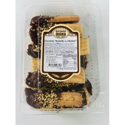 Sausainiai Kaimiški su šokoladu 500g
