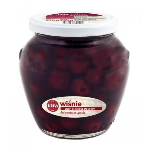 Vyšnios konservuotos Vera be kauliukų 570g