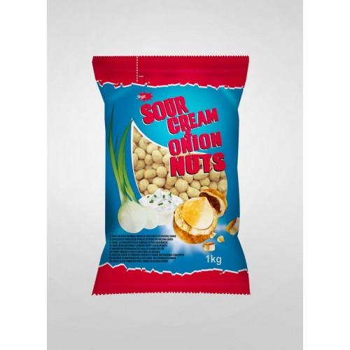 Žemės riešutai traškioje luobelėje Jėga grietinėlės ir svogūnų sk 1kg